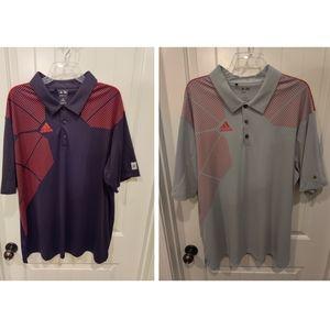 2 Adidas Polo Golf Shirts XXL